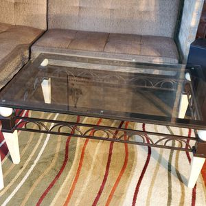 Glass Coffee Table with Matching End Table for Sale in Littleton, CO
