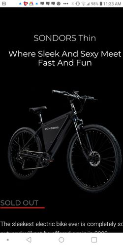 Thin Electric Bicycle for Sale in Portland,  OR