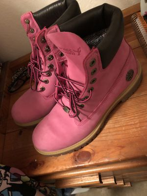 Pink Timberlands Boots for Sale in Lake Ridge, VA