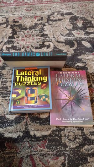 3 lateral thinking and logic fun books for Sale in Tampa, FL