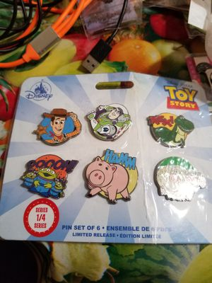 New Disney Store Toy Story Trading Pin Set - Limited Release 6 Pack Series 1/4!! for Sale in Houston, TX