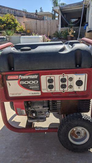 Coleman 5000 watt generator. With Subaru engine for Sale in Hemet, CA