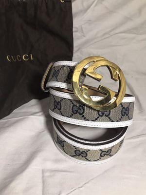 Gucci White Trim GG Supreme Belt **XMAS SALE!! for Sale in Queens, NY