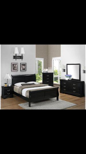 Queen 4 piece bedroom set COLOR CHOICE for Sale in Glendale, AZ