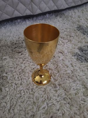 Vintage International Silver Co. 24k Gold Plated Wine Goblet for Sale in New Bern, NC