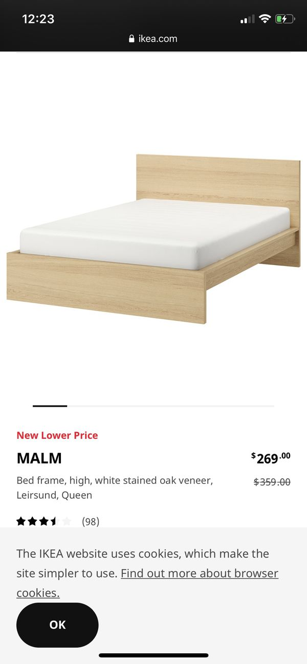 MALAM IKEA QUEEN BED