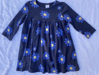 GYMBOREE Girls 3 Showers Of Flowers Navy Yellow Daisy Flower Long Sleeve Dress for Sale in San Ramon,  CA