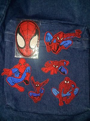 6 spider Man patches iron or sew on easy for Sale in Cleveland, OH