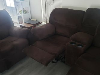 Brown Love Seat Couch & Recliner for Sale in Nolensville,  TN