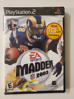 Madden 2003 for PS2 for Sale in Chula Vista, CA