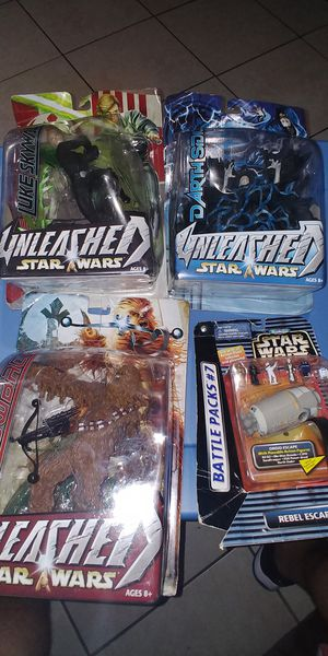 STAR WARS UNLEASHED ACTION FIGURES.. $50 FOR EVERYTHING U SEE IN PICS...4 IN TOTAL for Sale in Miami, FL