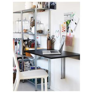"IKEA BJURSTA Wall-mounted drop-leaf table, brown-black, 35 3/8x19 5/8 "" for Sale in Germantown, MD"