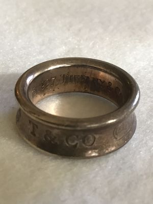 1997 Tiffany & Co. 1837 T & Co logo Sterling Silver 925 , size 4 1/2 , jeweler instructed me not to polish ( great for putting on a chain necklace) for Sale in Chesapeake, VA
