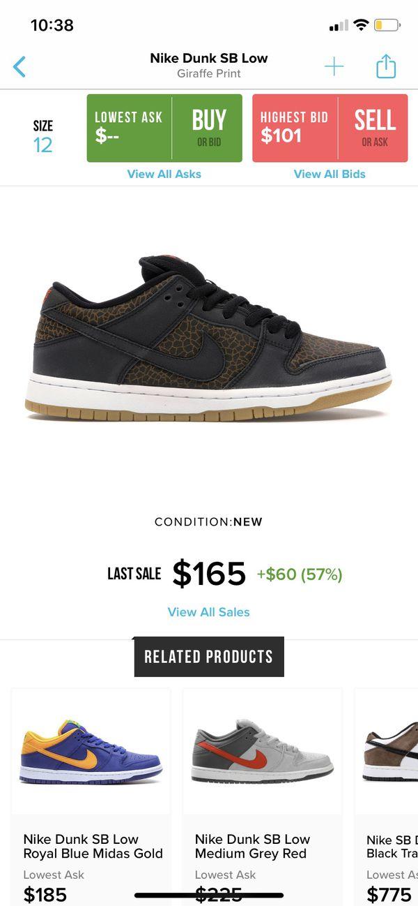 "Nike Sb Dunk Low ""giraffe"" size 12"