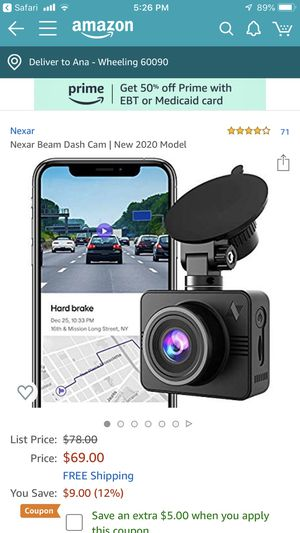 Nexar beam dash cam 2020 for Sale in Wheeling, IL