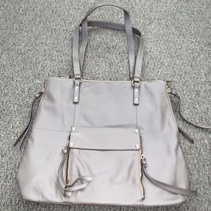 KOOBA Everette Leather Tote Bag Shoulder Gray Taupe Pockets Zippers Tassels for Sale in Castro Valley, CA