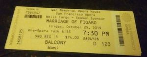 San Francisco Opera tickets for Sale in Pleasanton, CA