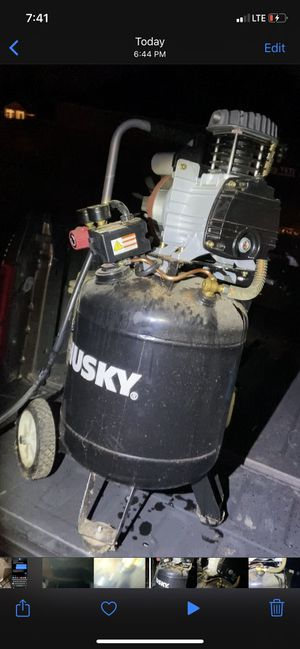 Husky air compressor for Sale in Conroe, TX