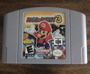 New Video Game Cartridge Console Card For Nintendo N64 Mario Party 3 US Version for Sale in Lowellville, OH
