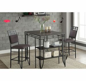 Breakfast matrix pub table with 2 pub chairs (new) for Sale in San Jose, CA