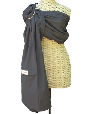Graphite Lightweight Maya Wrap Padded Ring Sling Baby Infant comfort Carrier for Sale in Lewisville, TX