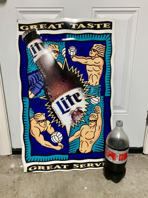 Miller Lite Beer Volleyball theme metal bar sign for Sale in Hacienda Heights, CA