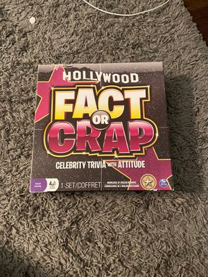Fact or crap board game (celebrity trivia game) for Sale in Fontana, CA