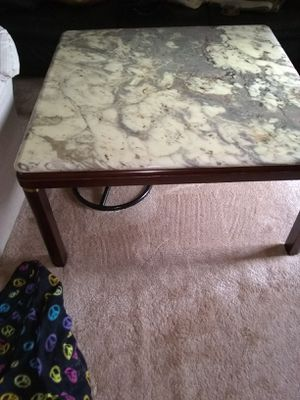 Modern marble top coffee table 40x40 cash by pickup only for Sale in Alexandria, VA