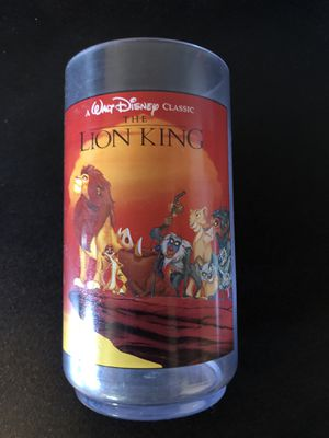 Disney Lion King Collectible Burger King Cup for Sale in Murrieta, CA