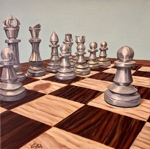 """Chess oil paintings, 12"""" x 12"""" diptych for Sale in Phoenix, AZ"""