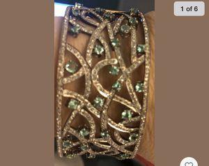 Antique diamond and emeralds 14k gold bangle bracelet for Sale in Mt. Juliet, TN