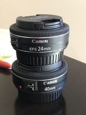 Canon 24mm and 40mm f/2.8 STM lenses for Sale in Los Angeles, CA