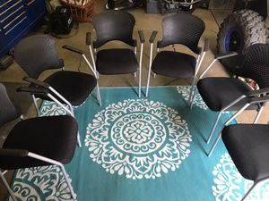 6 set of office desk/table chairs (professional firms) for Sale in Aurora, IL