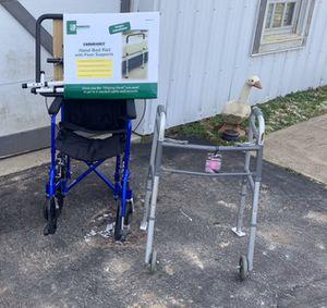 Wheel chair, walker and bed rail. for Sale in Cincinnati, OH
