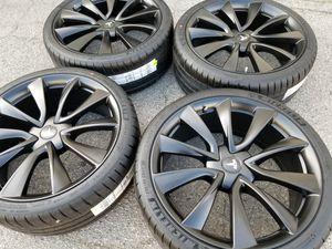 "New 20"" Tesla Model 3 Black Factory Wheels Rims Tires Sensors for Sale in San Fernando, CA"