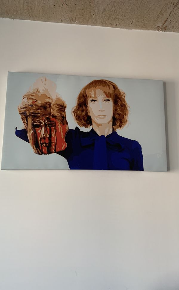 Kathy Griffin -controversial photo with Donald Trump mask - on canvas print