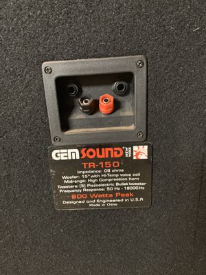 Gem Sound DJ Speakers with Amp for Sale in Brooklyn, OH