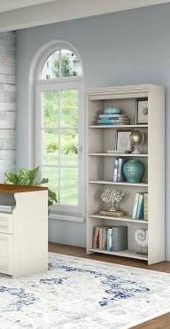 Brand New 5 shelf bookcase antique white for Sale in Fort Worth, TX
