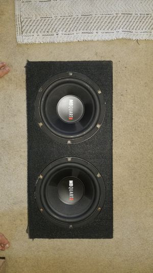 "10"" Mb quart subwoofers w/ box for Sale in San Diego, CA"