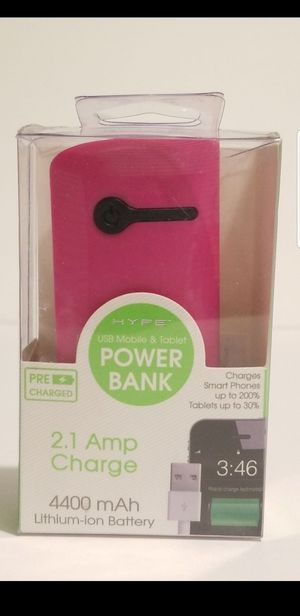 Hype 4400 mAh Lithium-ion Power Bank for Sale in Chapel Hill, NC