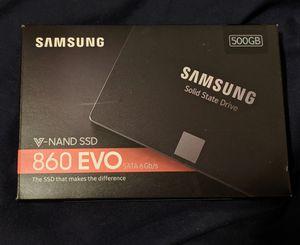 Samsung 860 EVO 500GB,Internal, (MZ76E500BAM) Solid State Drive for Sale in Modesto, CA