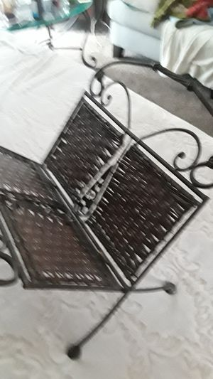 Rod Iron Magazine Rack Dark Brown for Sale in Frederick, MD