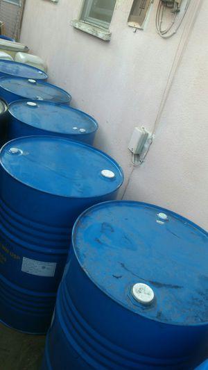 55 gallon metal drums $15 each for Sale in San Gabriel, CA