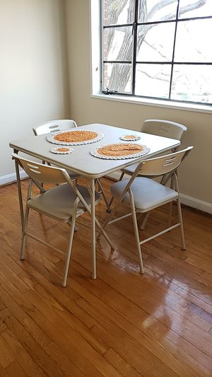 Folding table and 4 folding chair set for Sale in Bethesda, MD