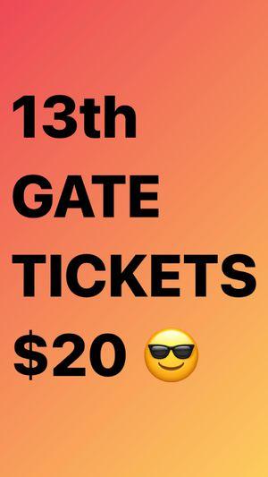 13th gate admission for Sale in Baton Rouge, LA