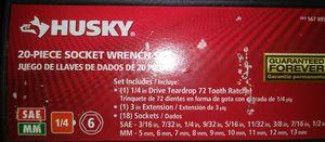 Husky 20 piece socket wrench set for Sale in San Diego, CA