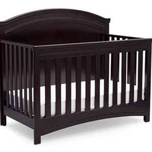 Simmons Kids SlumberTime Emma Convertible Baby Crib N More, Black Espresso for Sale in Cleveland, OH