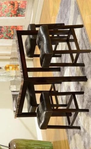 Kinsey 5-Piece Faux Marble-Top Counter Height Table Set | 2773 for Sale in Houston, TX