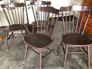 Dining table 4 chairs solid wood for Sale in Davenport, FL