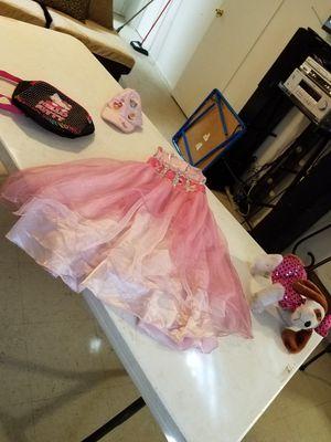 Girls princess dress Hello Kitty backpack princess hat doggy purse for Sale in Phoenix, AZ